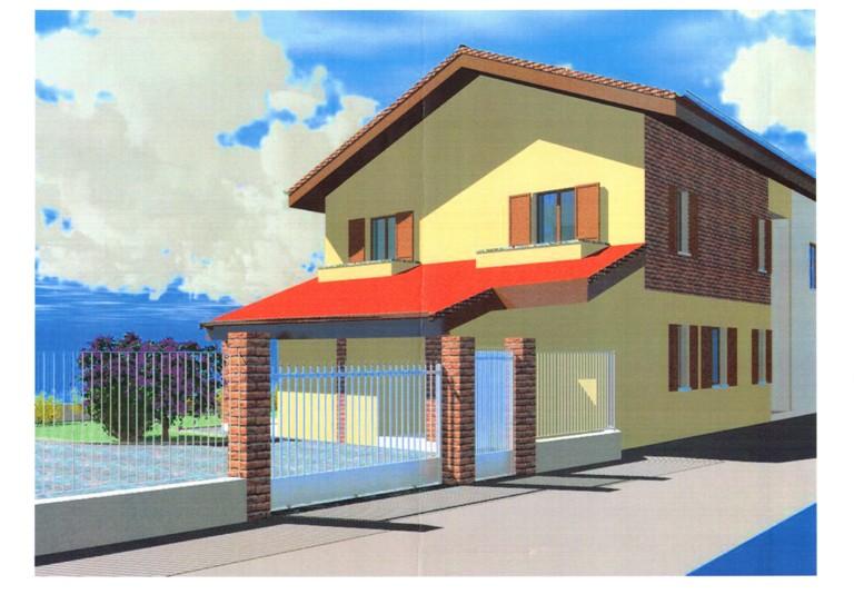 Casa costruita al tetto con giardino for Casa costruita